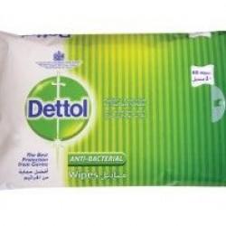 مناديل مبللة مضادة للبكتيريا ديتول (40 حبة)