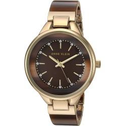 ساعة للنساء سواروفسكي مرصعة بالكريستال مع سوار من راتنج البانجل من ان كلاين، AK/1408