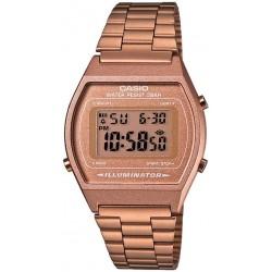 ساعة يد من كاسيو بسوار ستانلس ستيل مينا لون رمادي للسيدات B640WC-5AEF