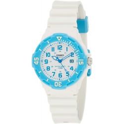 ساعة كاسيو للنساء شاشة بيضاء سوار راتنج - LRW-200H-2BVDF